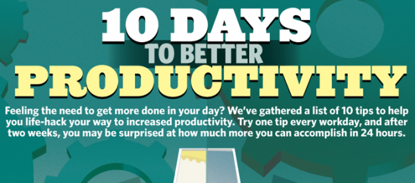 Infographic 10 days to better productivity