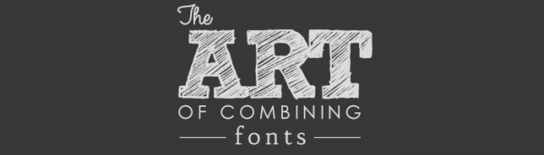 Infographic The art of combining fonts