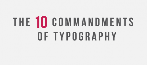 Infographic the 10 commandments of typography