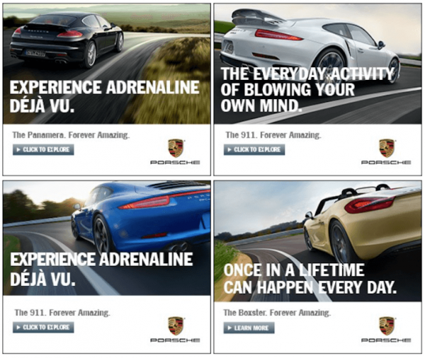 car movement banner ads examples