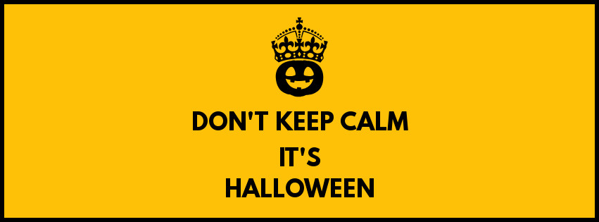 Keep Calm Halloween Template