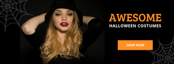 Halloween Banner Ad Template - awesome-costumes