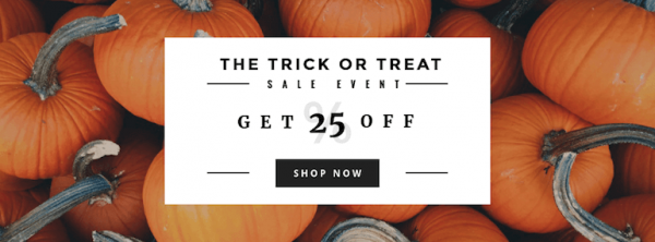 Halloween banner template trick-or-treat