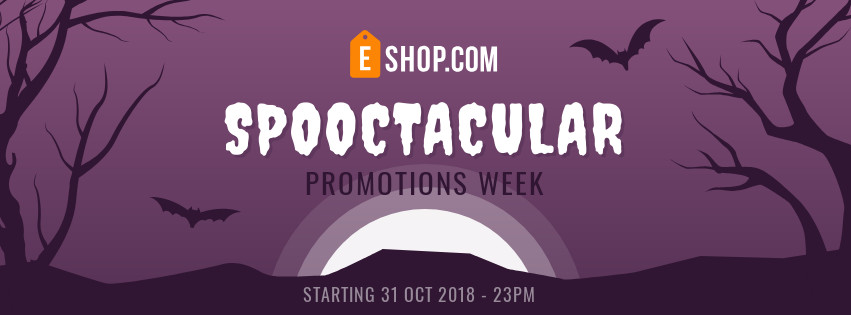 ghost Halloween banner template for Facebook page