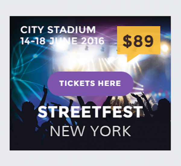 Montserrat in a New York Street Fest Ad