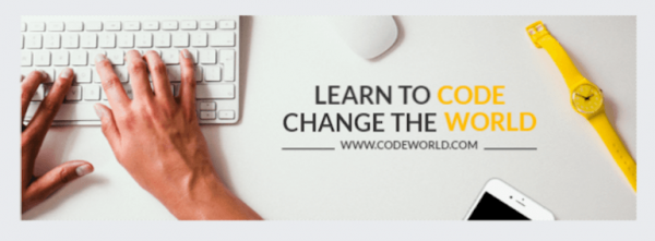 Lato used in a learn to code ad