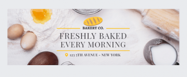 Playfair font in a bakery ad
