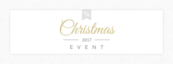 Christmas Template - Party banner with fonts combination