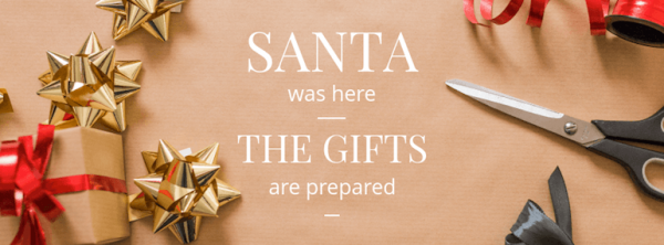 Santa and Gifts Christmas template