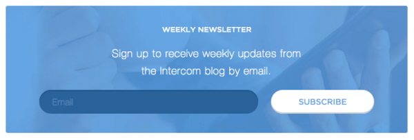 Weekly newsletter subscribe form