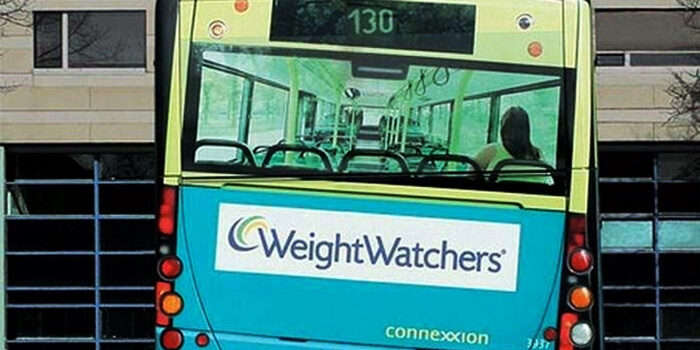 WeightWatchers Bus Branding