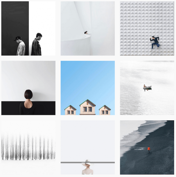 Minimalist Instagram feed