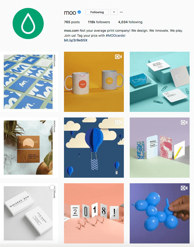 Moo.com Instagram business account