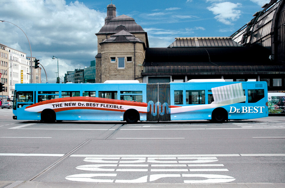 Dr. Best Creative Bus Advertisement