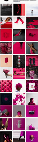 Colorful Instagram feed