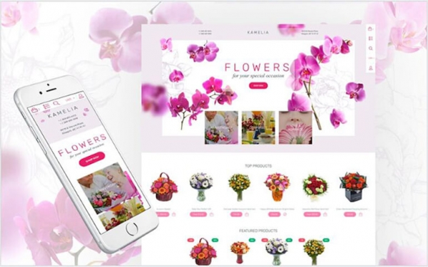 Parallax Flower Shop Responsive Shopify Theme