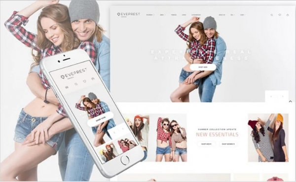 Parallax Fashion Boutique PrestaShop Theme