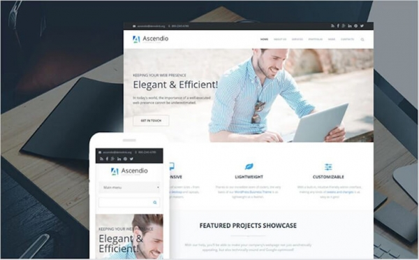 Parallax Business & Corporate Drupal Template