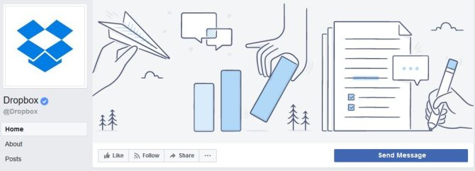 Dropbox Facebook banner example