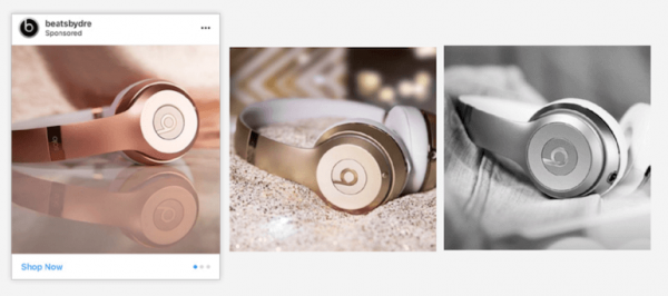Beats by Dre Instagram advertising banners