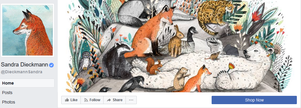 Sandra Dieckmann Facebook cover example