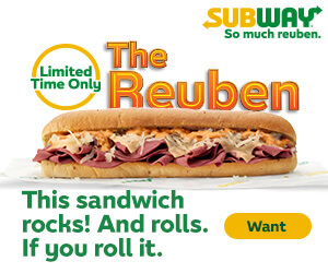 Subway advertising banner
