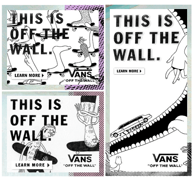 Vans black and white banner