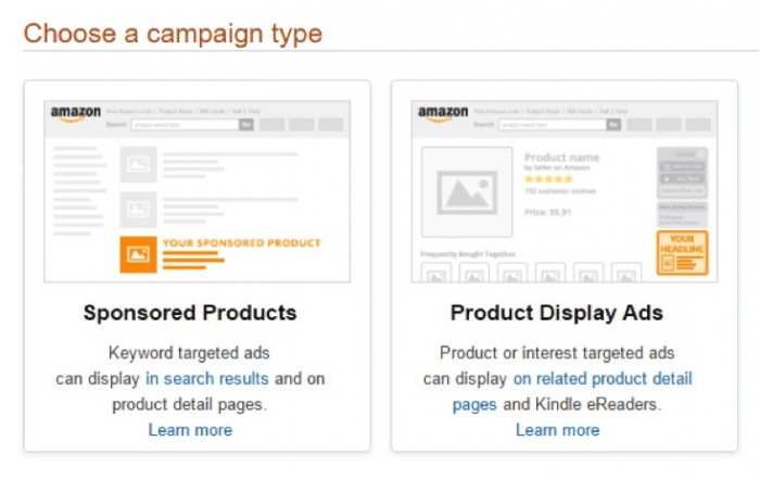 campaign type amazon advertising