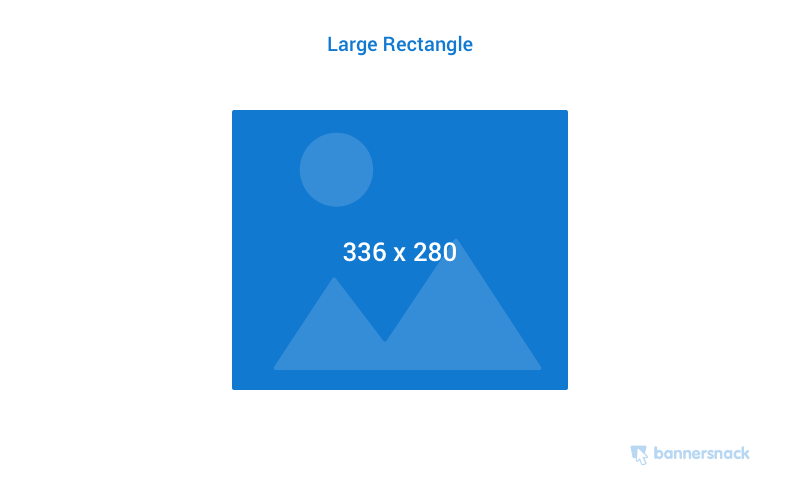 Large Rectangle banner ad