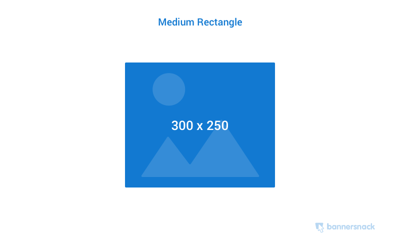 Medium rectangle banner ad size
