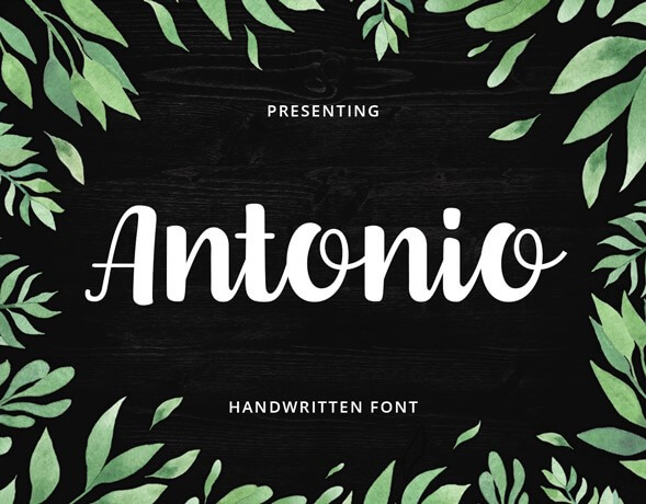 Antonio brush hand lettering font