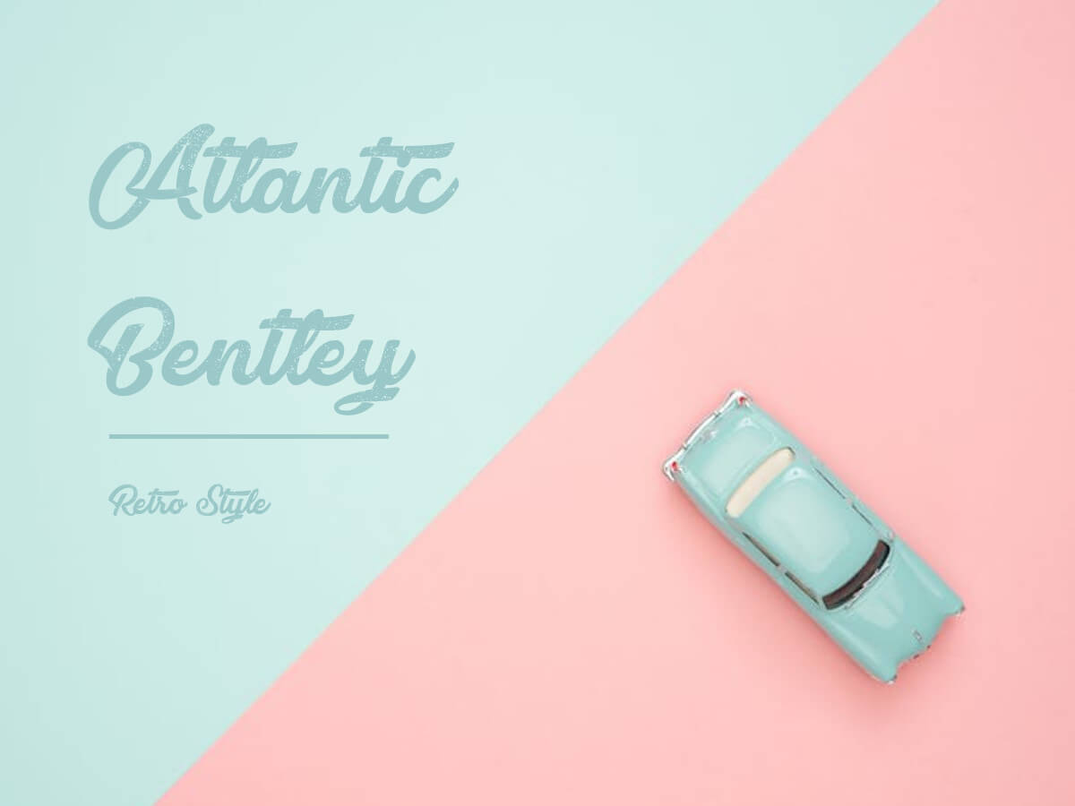 Atlantic Bentley - beautiful retro hand lettering font