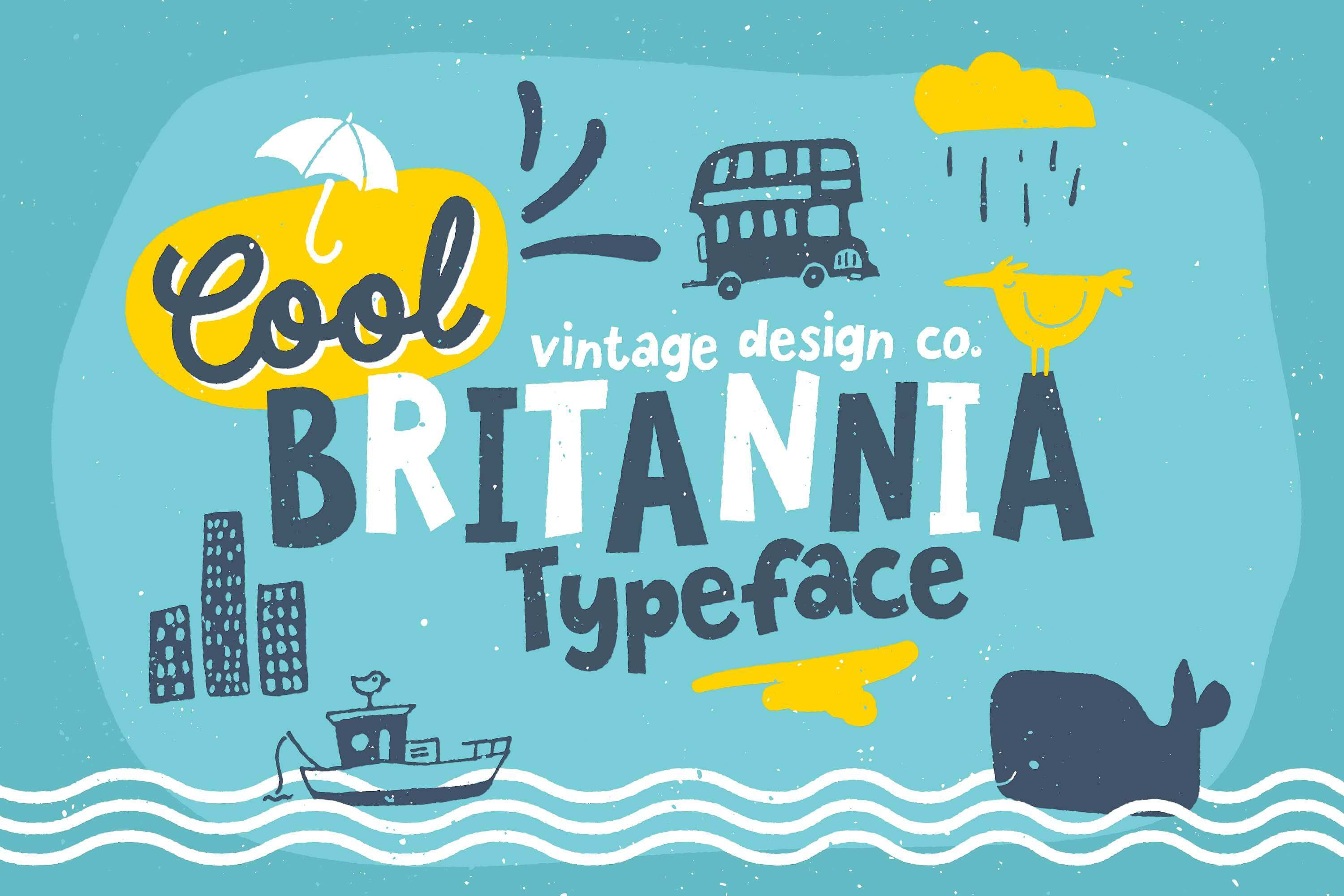 Cool Britannia - children's playful hand written typography font