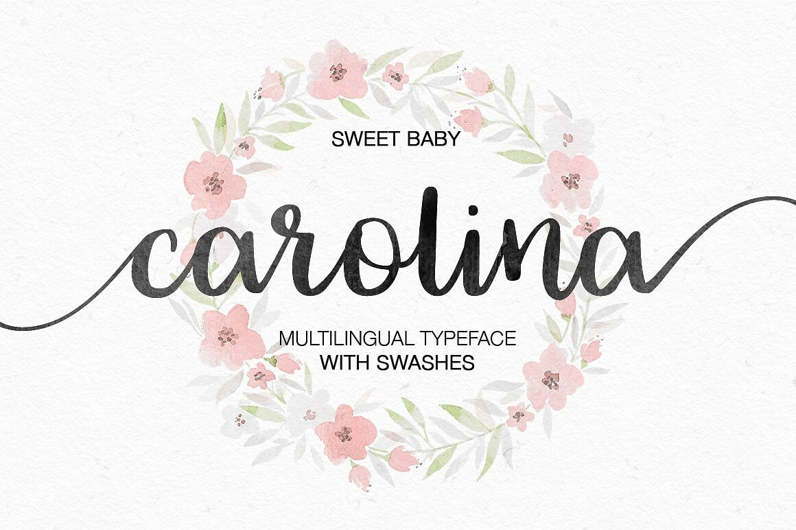 Carolina - lovely romantic hand lettering font