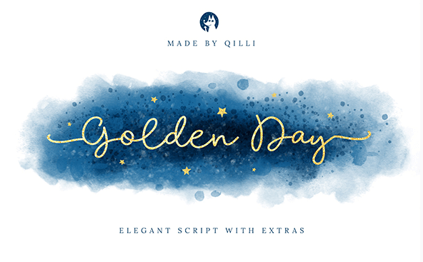 Golden Day - cute hand written font