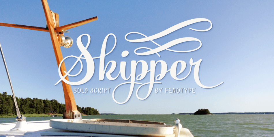 Skipper - romantic elegant font