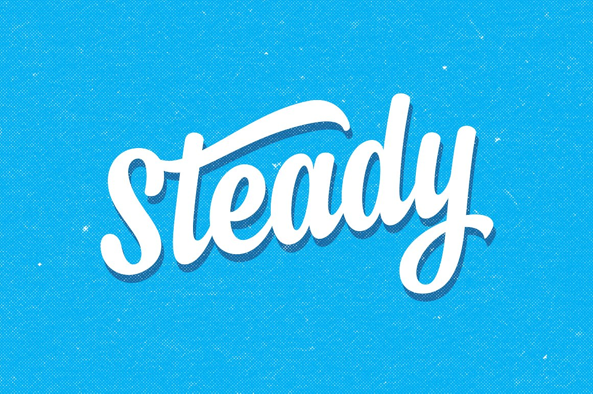 beautiful Steady vintage hand lettering script