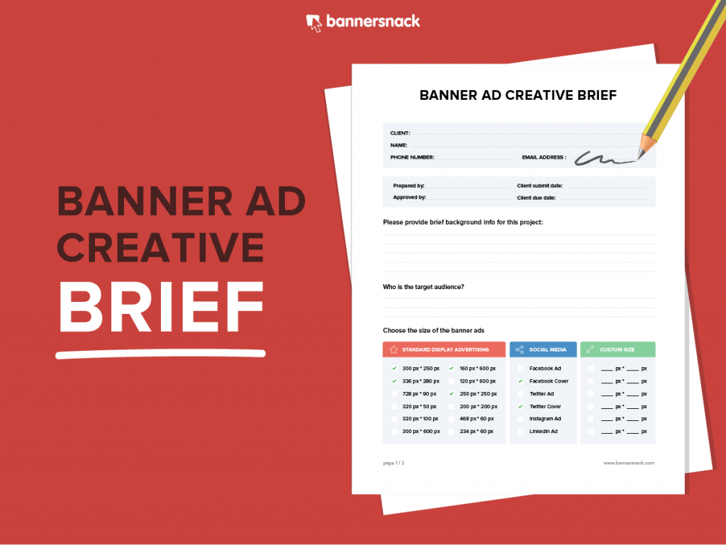 Banner Ad Creative Brief