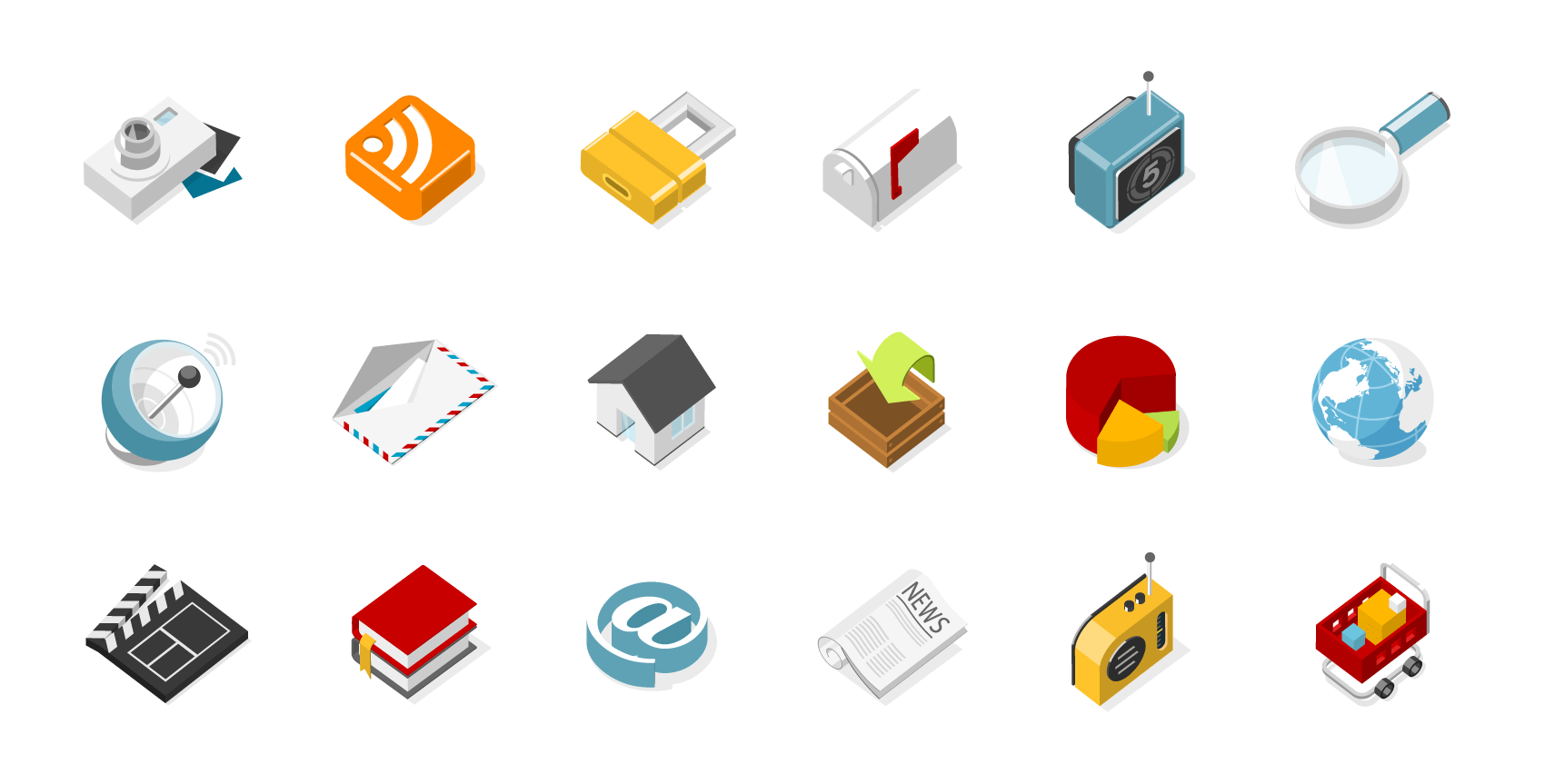 3D-isometric-icons