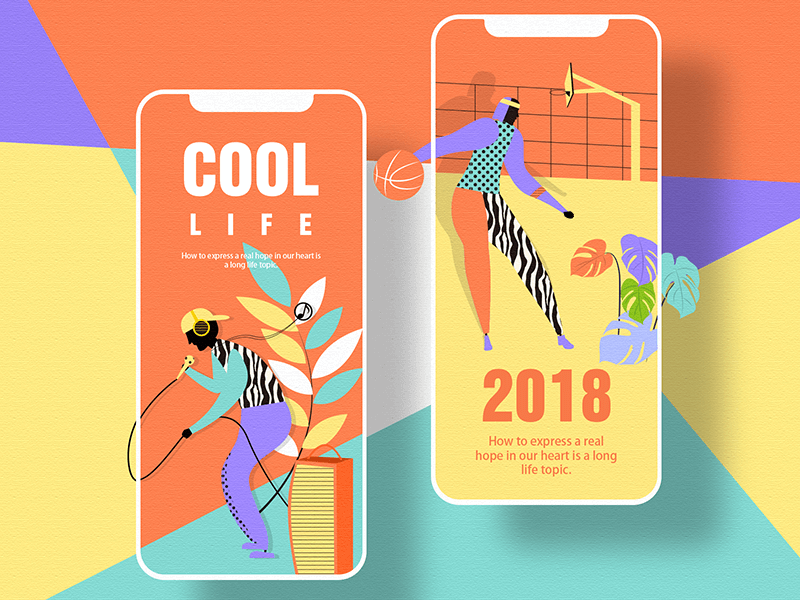 bold colors - graphic design trends in 2019