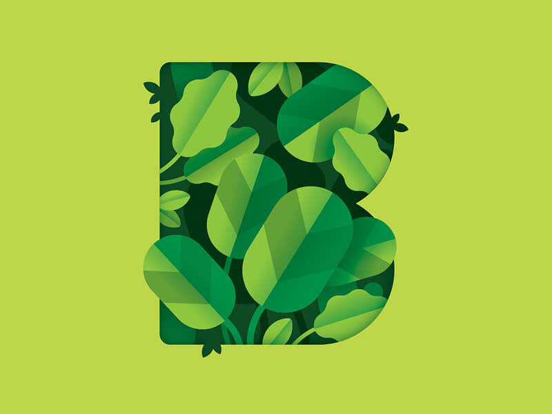 botanical elements - graphic design trends - 2019