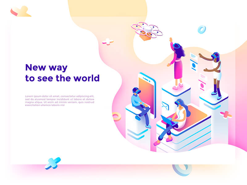 isometric graphic design - graphic design trends 2019