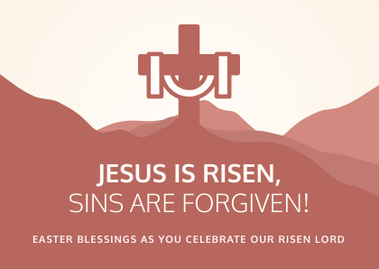 jesus is risen easter card