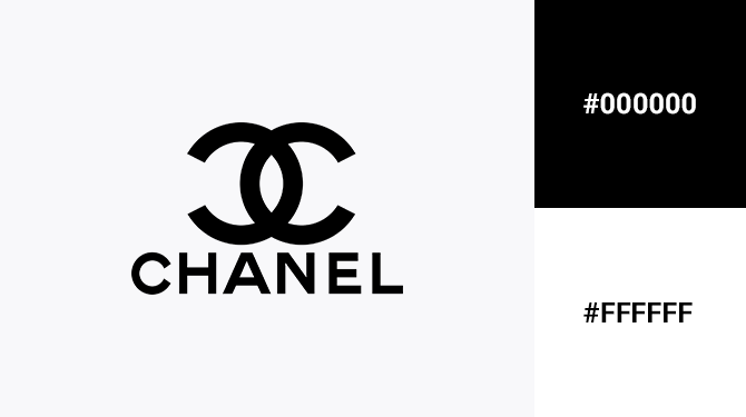 black and white logo chanel