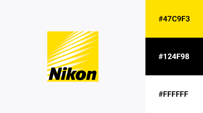 black and yellow logo nikon