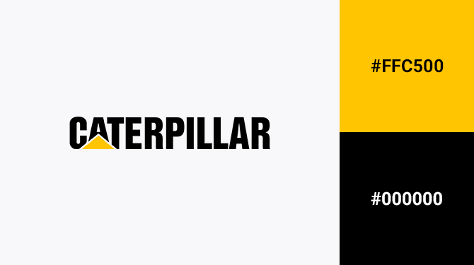 black and yellow logos caterpillar
