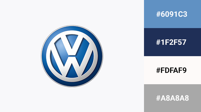 blue and grey logo Volkswagen