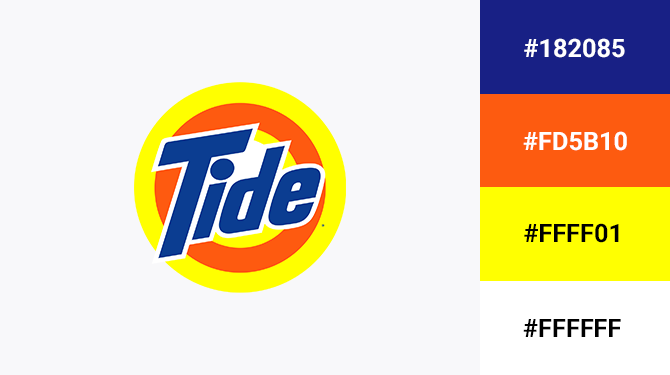 blue and orange logo tide