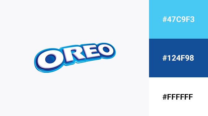 blue and white logo oreo