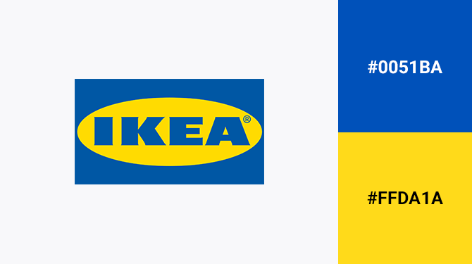 blue and yellow logo ikea